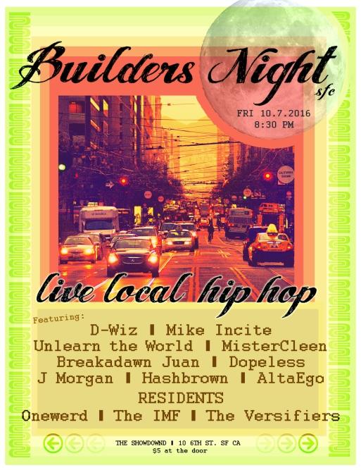 Builders 10/7/2016 poster