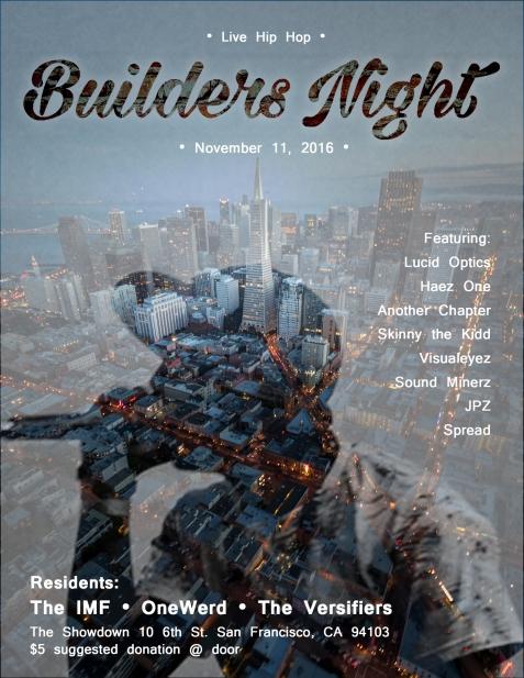Builders 11/11/2016 poster
