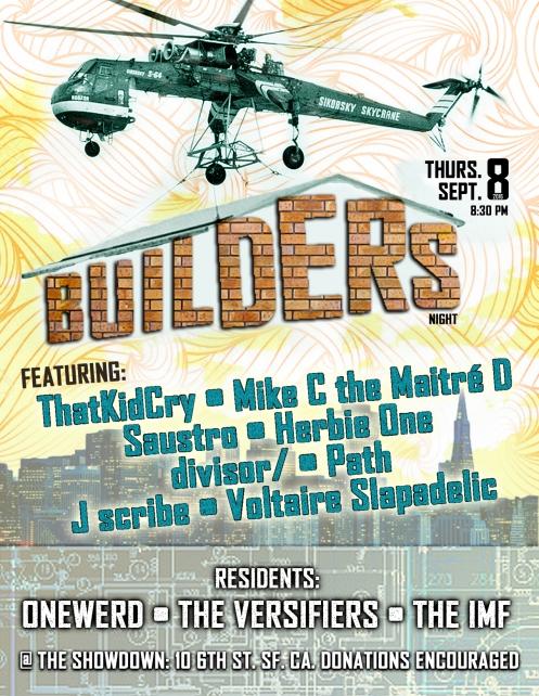 Builders 9/8/2016 poster