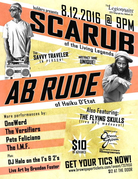 Scarb and Ab Rude Show Poster